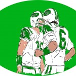 Tim Tebow and Mark Sanchez of the NY Jets | Sketch