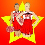 Glee Britney and Santana Sketch