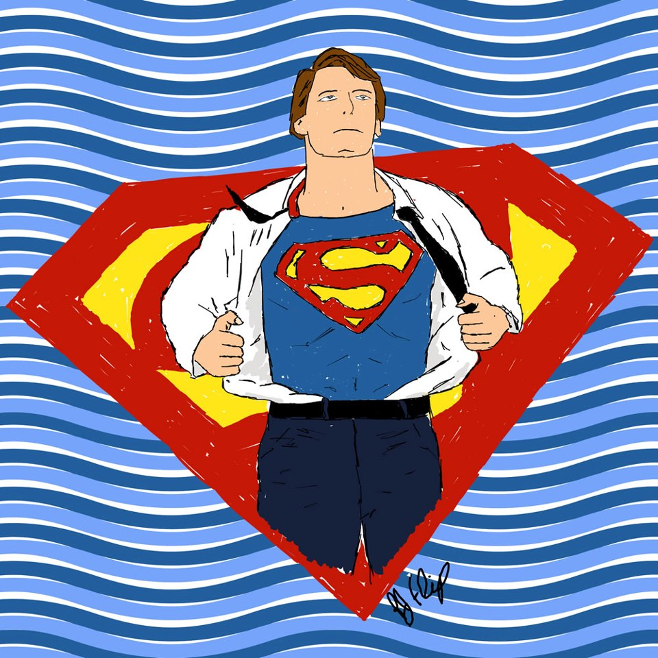 Flipbrothers clark kent to superman sketch for Kent superman