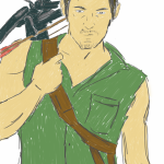 Daryl Dixon, The Walking Dead Sketch